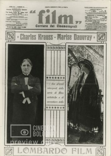 Charles Krauss. Bolla di sapone. 1921