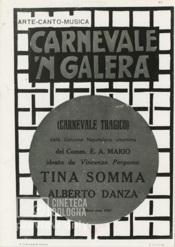 Ubaldo Maria Del Colle. Carnevale tragico. 1924 / Carnevale 'n galera