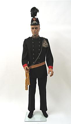 Uniform van een majoor van de Utrechtse Schutterij bestaande uit diverse onderdelen