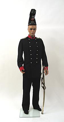 Uniform van een adjudant van de infanterie van de Utrechtse Schutterij