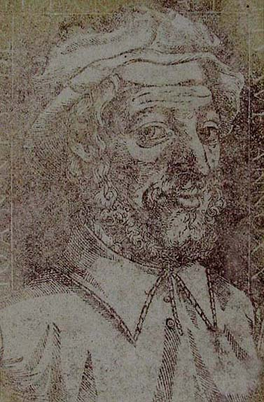 Juan de Yciar. His Portrait. From his book, Arte subtilissima por la qual se enseña a escrevir
