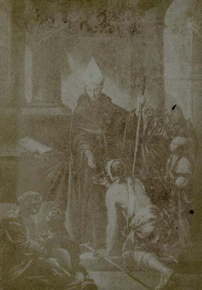 Bartolomé Esteban Murillo. St. Thomas of Villanueva, Archbishop of Valencia, giving alms at the door of his Cathedral