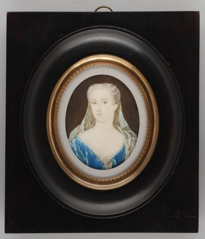 Portretminiatuur van Sara Johanna van Campen, post mortem