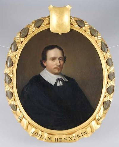 Portret van Johan (Jean Baptista) Hennekyn, Hennekin, of Hennekijn (1616-1670)