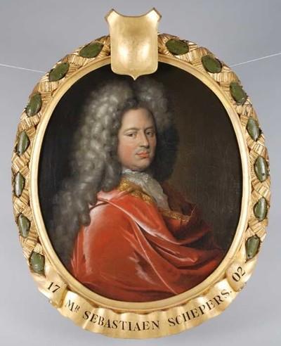 Ovaal portret van Bastiaen Willemsz. Schepers (1650-1704)