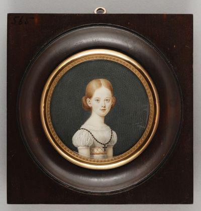Portretminiatuur van Elisabeth Geertruida van Hogendorp-Hardy