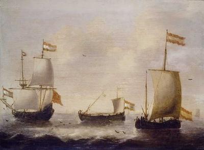 Riviermond met schepen