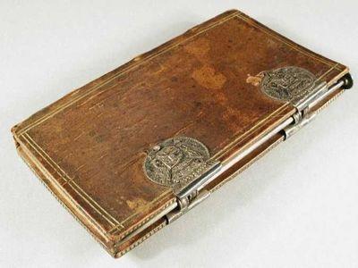 Notitieboek van een lid van Gecommitteerde Raden ter Admiraliteit met zilveren schrijfstift