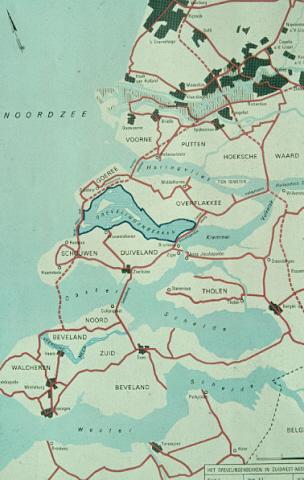 Grevelingen. Het Gevelingenbekken in Zuidwest-Nederland.