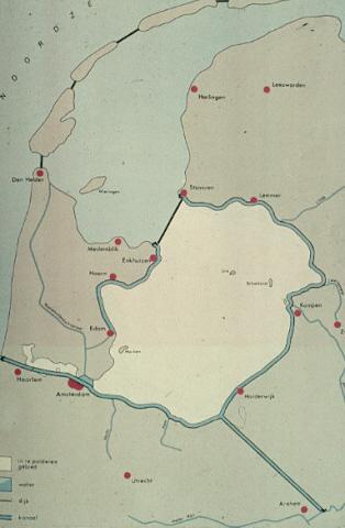 Inpolderingsplan Zuiderzee en varianten Markerwaard van 1667 tot heden. Kloppenburg en Faddegon, 1848.