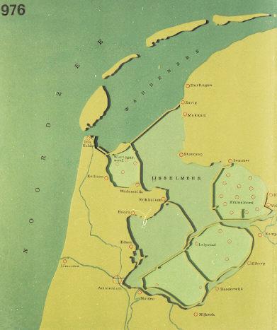 Kaart van Nederland: 1976.