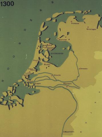 Kaart van Nederland: Oude kaart.
