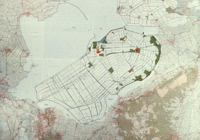 Oostelijk en Zuidelijk Flevoland. Verkavelingsplan.