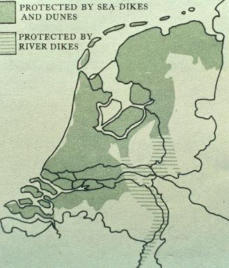 Gebied in Nederland dat beschermd wordt door dijken.
