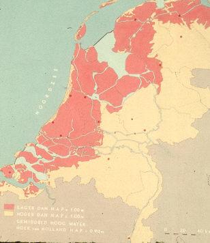 Kaart van Nederland.