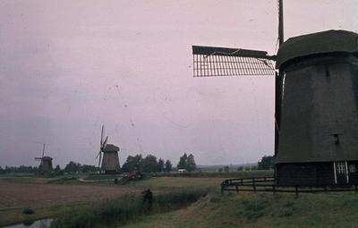 Noord-Holland: De Schermer: Schermerhorn. Molens 1e, 2e en 3e slag.
