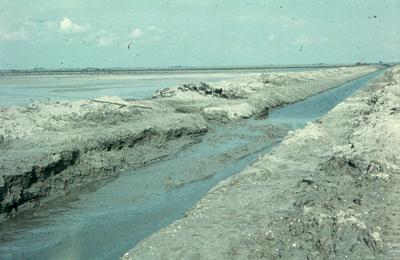 Oostelijk Flevoland. Erosie.