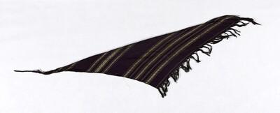 Katoenen gordel met zijden strepen, onderdeel van een theaterkostuum