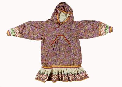 Lila dagelijkse jurk voor vrouw