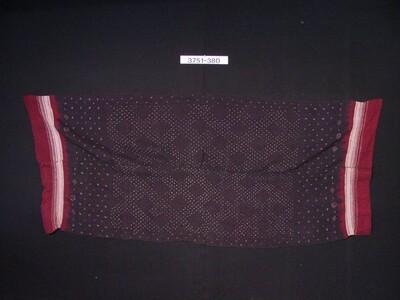 Wollen omslagdoek met plangi versiering