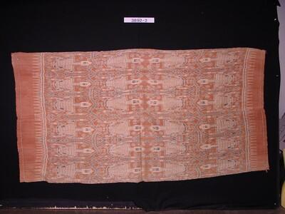 Schouderdoek met gestileerde mannenfiguren in scheringikat
