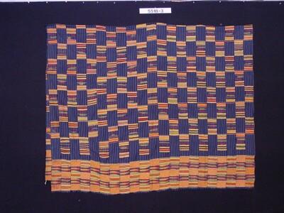 Kleurige omslagdoek met blokpatroon