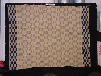 Katoenen omslagdoek met blokpatroon