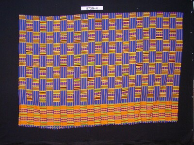 Cotton wrap cloth with colourful geometric pattern