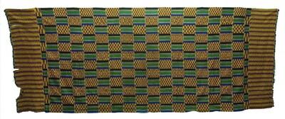Kentedoek met ingeweven geometrische en ruitvormige patronen