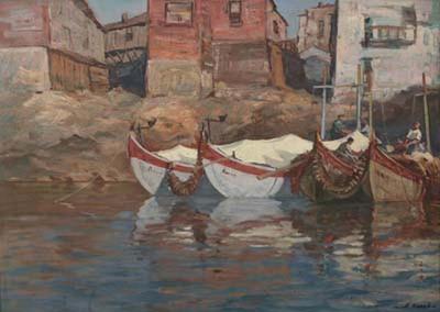 Рибари на пристан