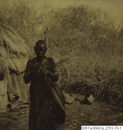 flätning, kvinna, säck, fotografi, photograph@eng