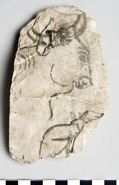 Ostracon@eng, Artist's sketch@eng, Konstnärs-skiss, Ostrakon