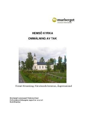 Hemsö kyrka, Hemsö församling, Härnösands kommun, Ångermanland. Ommålning av tak.