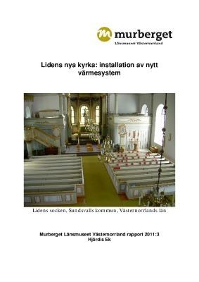 Lidens nya kyrka: installation av nytt värmesystem