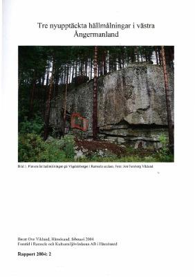 Tre nyupptäckta hällmålningar i västra Ångermanland