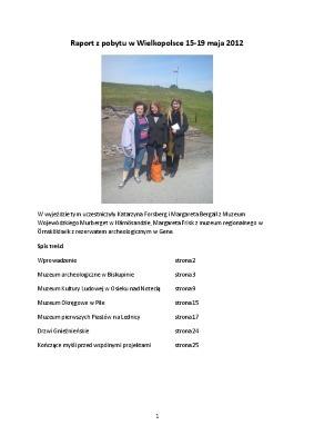 Raport z pobytu w Wielkpolsce maj 2012