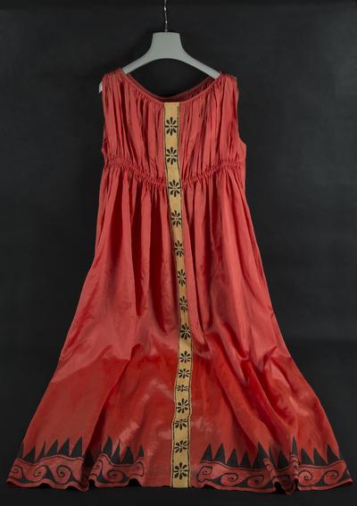 Α red theatrical costume from South Africa