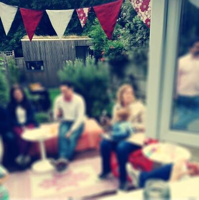 My birthday bunting: a mix of Britain and South Africa
