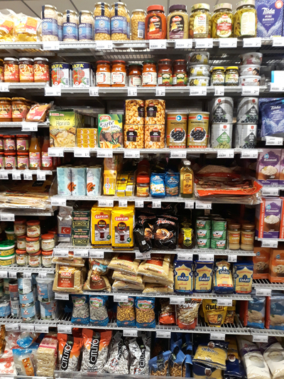 Turkish food in supermarket in the Netherlands