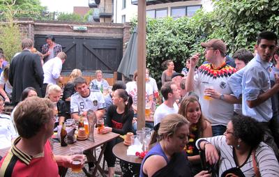 German football fans in London