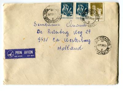 Brief uit Roemenië