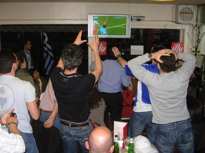 Greek football fans in London