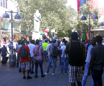 Sudanese protest in Hannover