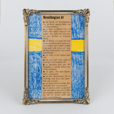 Homesickness for Sweden