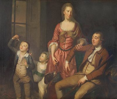 Interior Group Portrait of Penrose Family