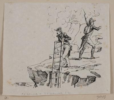 To grenadere på en klippesats