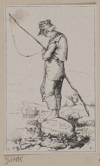 En bondedreng, der fisker
