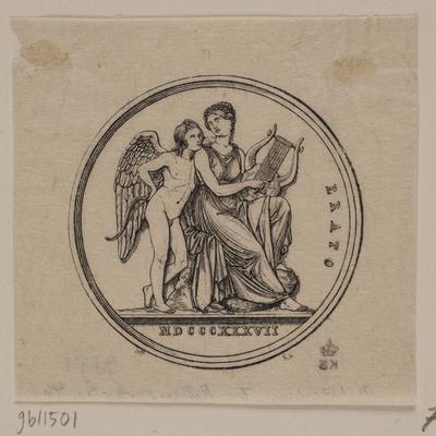 Medalje med fremstilling af Erato