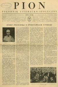 Pion : tygodnik literacko-społeczny 1935 R. III nr 27 (92)