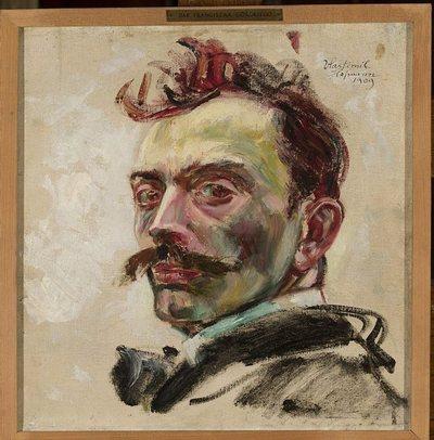 Autoportret, szkic
